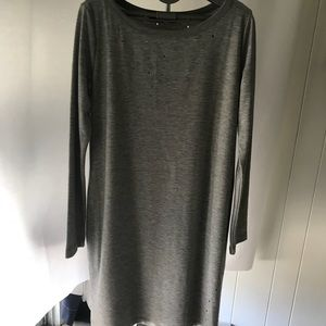 Miracle Berry grey distressed dress